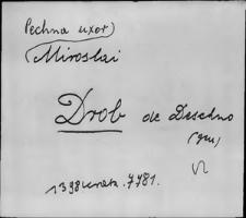 Kartoteka Słownika staropolskich nazw osobowych; Drob - Droz-