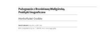 Pożegnanie z Bronisławą Waligórską. Praktyki biograficzne