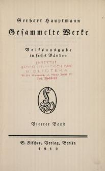 Gesammelte Werke : Volksausgabe in sechs Bänden. Bd. 4