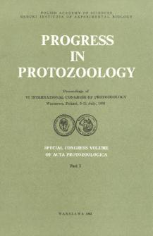 Acta Protozoologica,Special Congress Volume, Part I