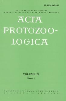 Acta Protozoologica, Vol. 28, Nr 1