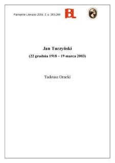 Jan Tuczyński (22 grudnia 1918 - 19 marca 2003)