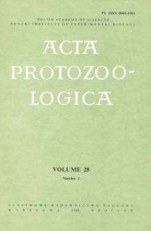 Acta Protozoologica, Vol. 28, Nr 2