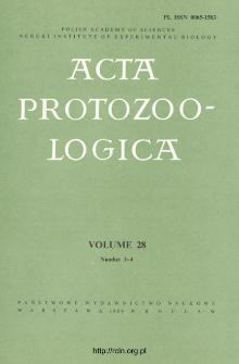 Acta Protozoologica, Vol. 28, Nr 3-4