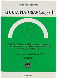 "Alkaline fen in the ""Jawora"" nature reserve (central Poland) twenty years after cessation of exploitation"