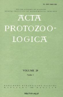 Acta Protozoologica, Vol. 29, Nr 1