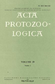 Acta Protozoologica, Vol. 29, Nr 2