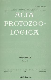 Acta Protozoologica, Vol. 29, Nr 3