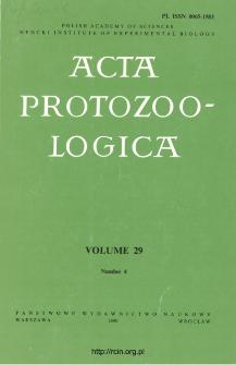 Acta Protozoologica, Vol. 29, Nr 4