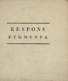 Respons Zygmunta