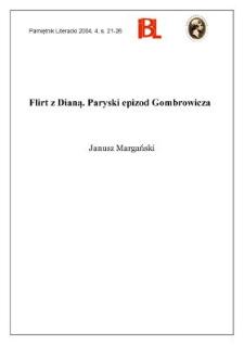 Flirt z Dianą : paryski epizod Gombrowicza