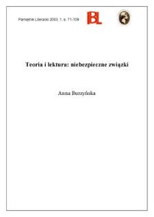 Teoria i lektura : niebezpieczne związki