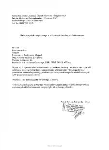 Kartoteka przypadków klinicznych chorób nerwowo-mięśniowych (2014) - opis nr 3/14
