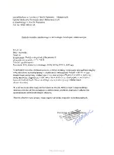 Kartoteka przypadków klinicznych chorób nerwowo-mięśniowych (2014) - opis nr 21/14