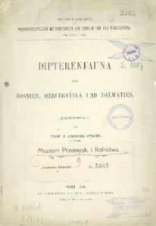 Dipterenfauna von Bosnien, Hercegovina und Dalmatien