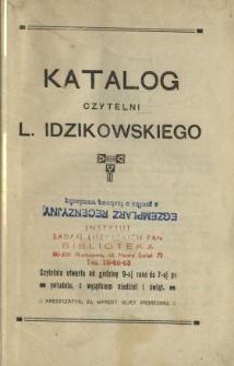 Katalog czytelni L. Idzikowskiego.