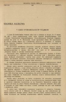 V Zjazd Hydrobiologów Polskich