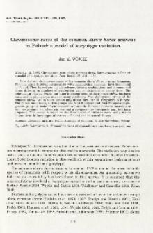 Chromosome races of the common shrew Sorex araneus in Poland: a model of karyotype evolution