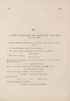 A Smith's Prize paper and dissertation [1874] : solutions and remarks