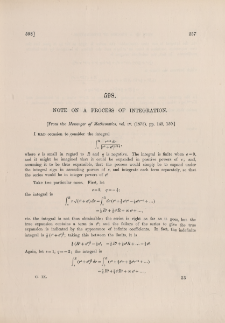 Note on a process of integration