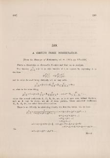 A Smith's Prize dissertation