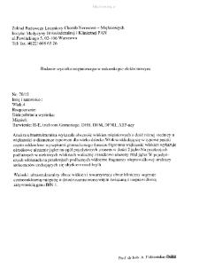 Kartoteka przypadków klinicznych chorób nerwowo-mięśniowych (2012) - opis 70/12