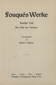 Fouqués Werke : Held des Nordens. T. 2