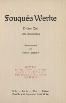 Fouqués Werke : Zauberring. T. 3