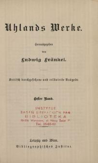 Uhlands Werke. Bd. 1