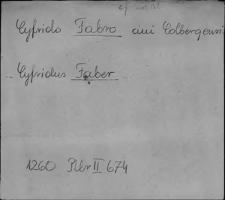 Kartoteka Słownika staropolskich nazw osobowych; Fab - Fig