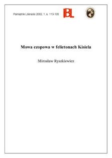 Mowa ezopowa w felietonach Kisiela