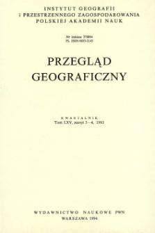 Przegląd Geograficzny T. 65 z. 3-4 (1993)
