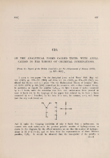 On the analytical forms called trees, with application to the theory of chemical combinations