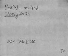 Kartoteka Słownika staropolskich nazw osobowych; Gorzys - Goś