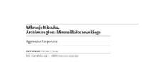 Wibracje Mitsuku. Archiwum głosu Mirona Białoszewskiego