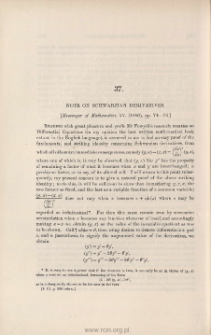 Note on Schwarzian derivatives