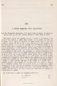A Fifth Memoir on Quantics