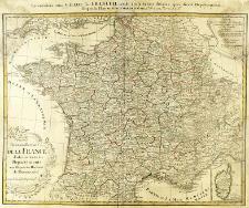 Tres nouvelle Carte De La France diviseé en toutes ses Departements