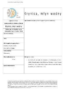 Krynica, watermill