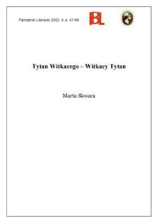 Tytan Witkacego - Witkacy Tytan