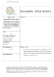 Kossewko, młyn wodny