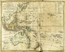 Karte vom Fünften Erdtheil oder Polynaesien-Inselwelt, oder Australien od. SüdIndien
