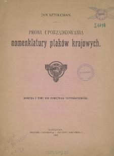 Próba uporządkowania nomenklalury ptaków krajowych