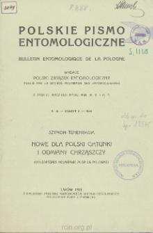 Nowe dla Polski gatunki i odmiany chrząszczy = Coléoptères nouveaux pour la Pologne