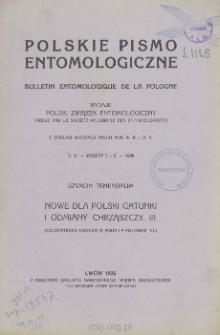 Nowe dla Polski gatunki i odmiany chrząszczy. III = Coléoptères nouveaux pour la Pologne. III