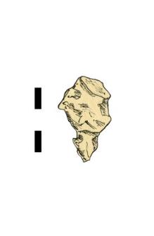 przedmiot, żelazny, fragment