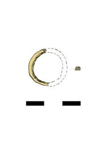 pierścionek, szklany, fragment