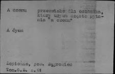 Przezwiska i przydomki ludowe XIX i XX w.; Powiedzonka