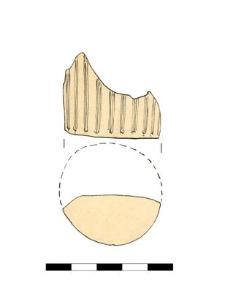 dno naczynia szklanego, fragment