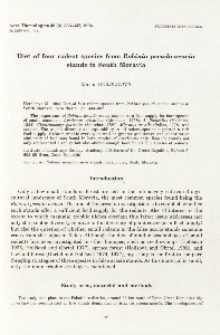 Diet of four rodent species from Robinia pseudo-acacia stands in South Moravia